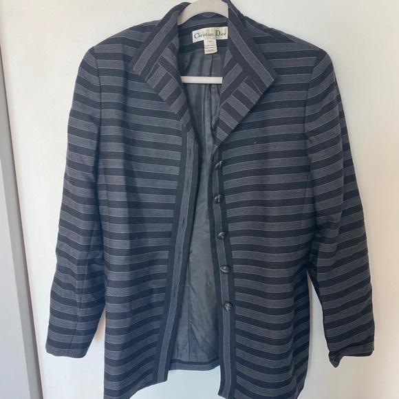 Christian Dior Vintage stripped jacket size 14